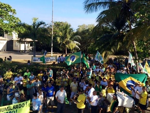 ARACAJU (SE) - Organizadores percebem queda na adesão e atribuem a 'confusão política' (Foto: Tássio Andrade/G1)