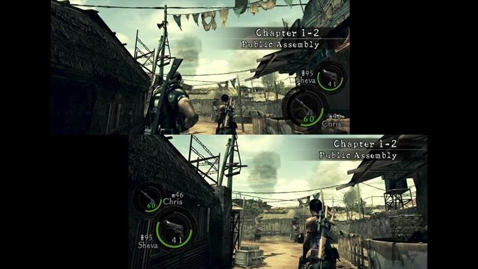 Resident Evil 5 coloca os jogadores no controle de Chris Redfield e Sheva Alomar (Foto: Reprodução/Felipe Demartini)