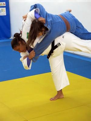 Maria Suelen Altheman judô judoca treino Santos (Foto: Bruno Gutierrez)