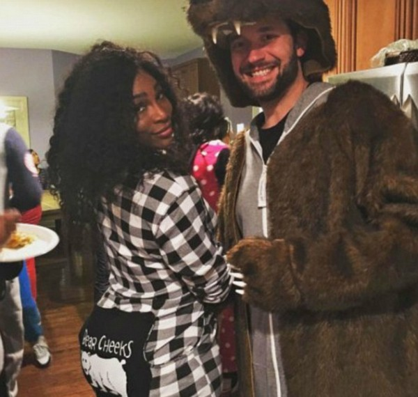 A jogadora de tênis Serena Williams com o noivo, o empresário Alexis Ohanian (Foto: Instagram)