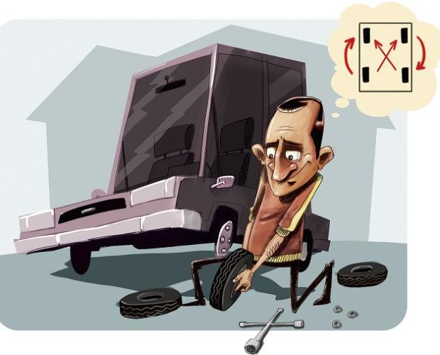 Rodízio de pneus (Foto: Marceleza/Autoesporte)