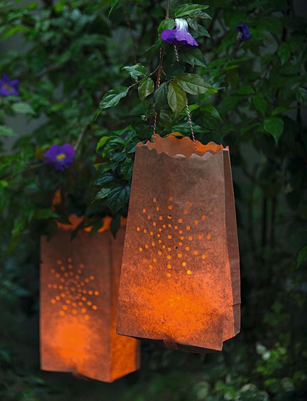 Para eventos noturnos, lanternas de papel Cromus (o saquinho deve ser específico para essa finalidade) (Foto:  Cacá Bratke/Editora Globo)