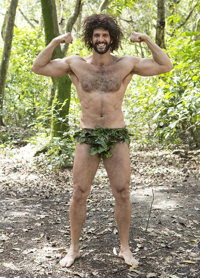 Guilherme diverte-se e entra na 'vibe' de Tarzan  (Foto: Felipe Monteiro/Gshow)