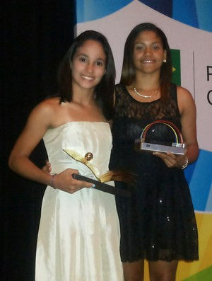 Samia Lima recebe Prêmio Brasil Olimpico (Foto: Divulgação)