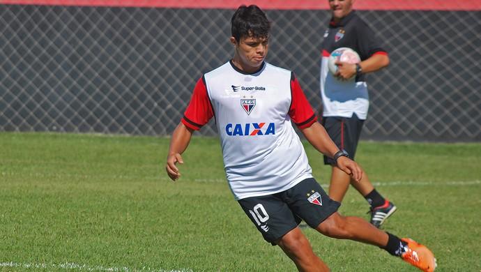 Fábio Lima - meia Atlético-GO (Foto: Guilherme Salgado / Site Oficial do Atlético-GO)