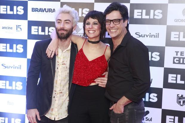 Rodrigo Pandolfo, Andreia Horta e Lúcio Mauro Filho (Foto: Anderson Barros / Ego)