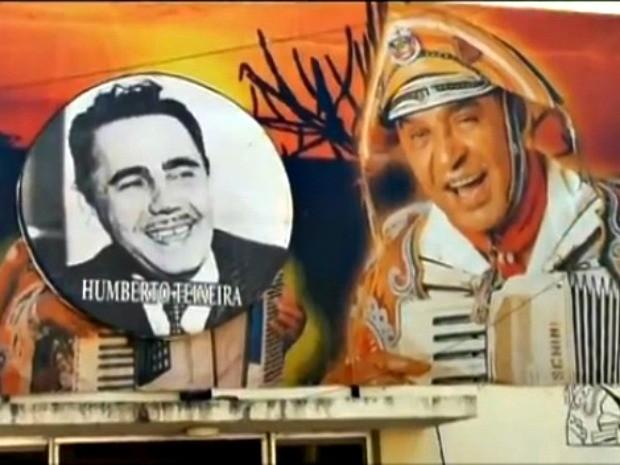 Fachada homenageia Luiz Gonzaga e Humberto Teixeira (Foto: Reprodução / TV Verdes Mares Cariri)