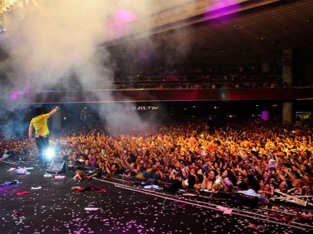 Luan Santana no Festeja Recife (Foto: Adriana Noya / G1)