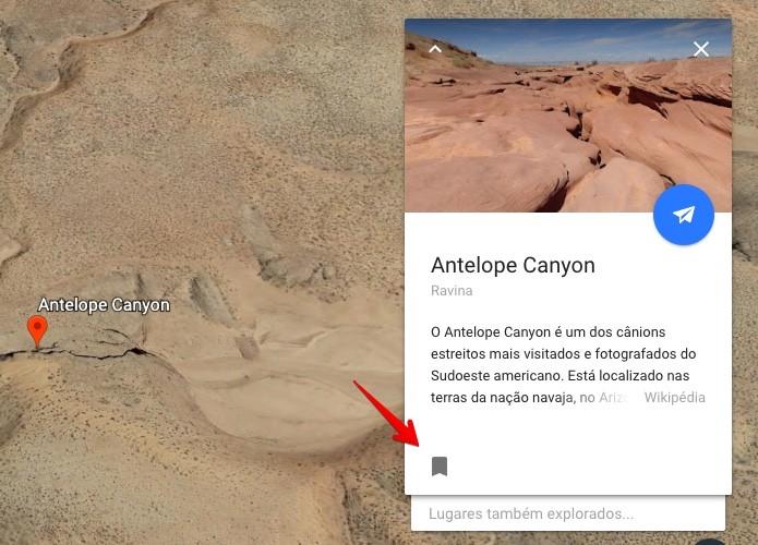 Salvando um lugar no Google Earth (Foto: Reprodução/Helito Bijora)