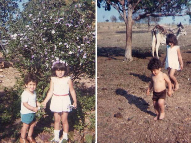 Paula Fernandes pequena. Linda, né? (Foto: Arquivo pessoal cedido ao Sai do Chão)