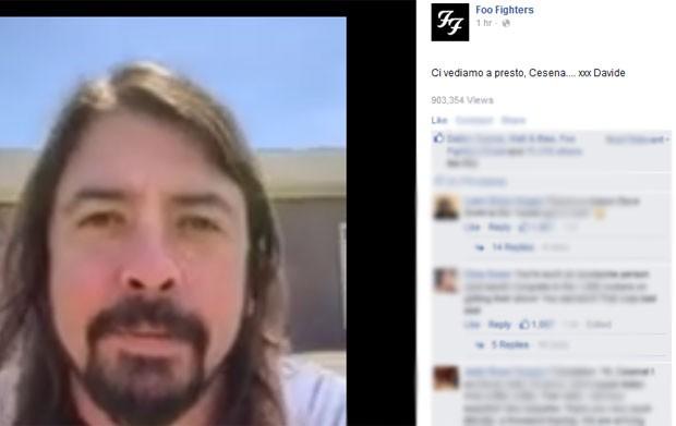 David Grohl, do Foo Fighters, fala no Facebook (Foto: Reprodução/Facebook/Foo Fighters)