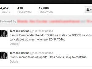Teresa Cristina é uma das 'vítimas' das longa filas (Foto: Reprodução / Twitter)