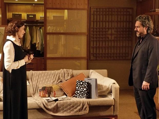 Maria Marta dá conselhos para Zé sobre Cristina (Foto: Império/TV Globo)