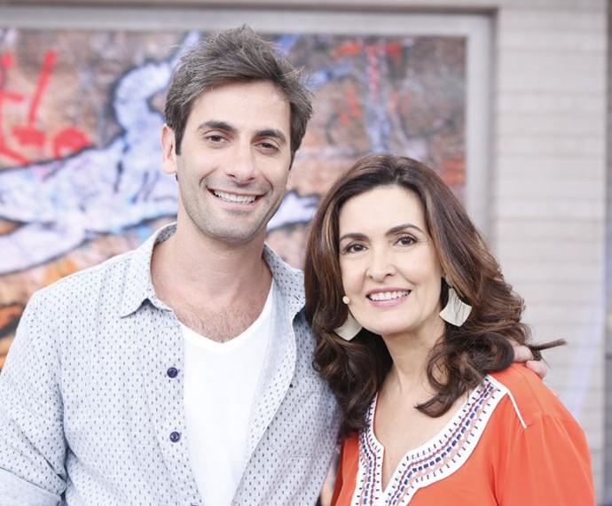 Flávio Tolezani ao lado de Fátima Bernardes (Foto: Ellen Soares/Gshow)