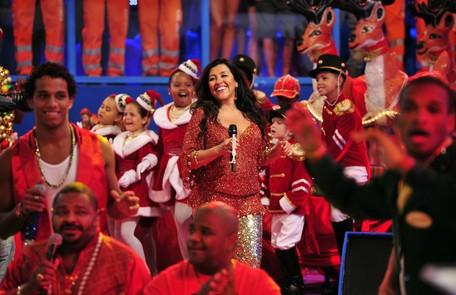 No palco do 'Esquenta' especial de Natal, em 2012 Divulgação/ TV Globo