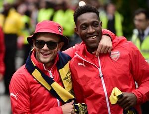 Jack Wilshere e Danny Welbeck no Arsenal
