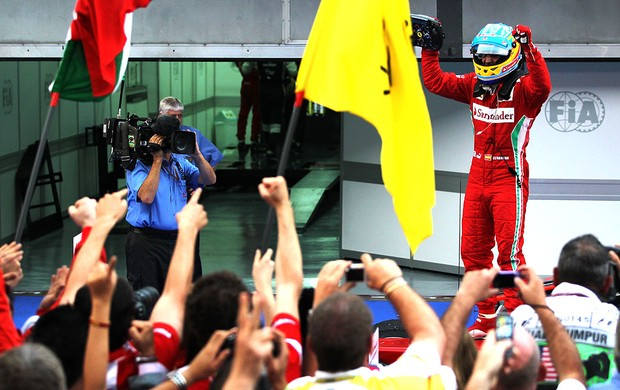 Fernando Alonso no GP da Malásia (Foto: Getty Images)