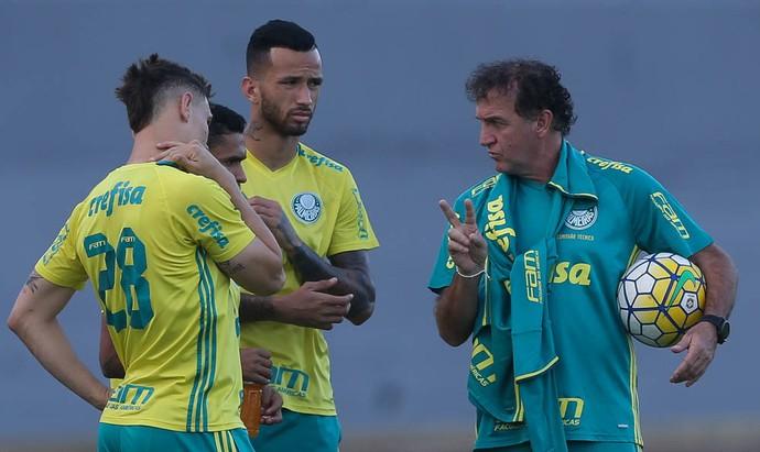 Leandro Pereira Cuca Palmeiras (Foto: Cesar Greco/Ag Palmeiras/Divulgação)