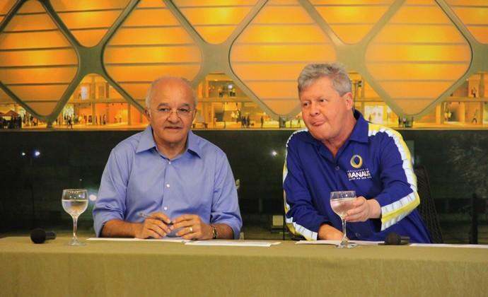 Governador e Prefeito de Manaus em coletiva (Foto: Diego Toledano/G1)