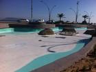 Praça das Águas passa por manutenção para verão em Cabo Frio