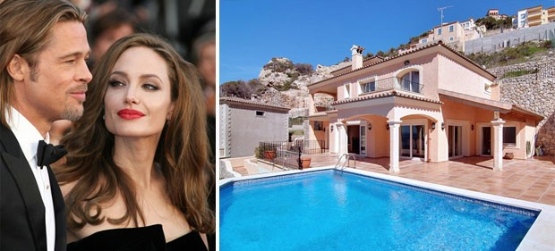 As casa de Angelina Jolie e Brad Pitt (Foto: Reprodução )