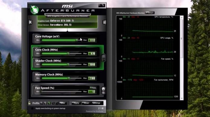 MSI Afterburner é um dos softwares mais seguros para fazer Overclocking (Foto: Reprodução/Youtube)