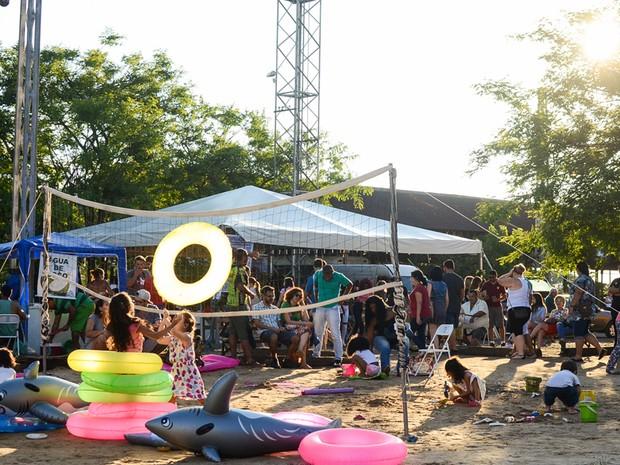 Praia artificial terá espaço exclusivo para crianças (Foto: Dreison Medeiros)