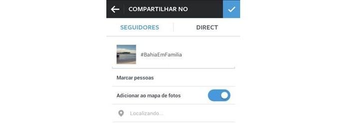 Mapa de Fotos mostra localização de onde fotigrafias foram tiradas (Foto: Divulgação/Instagram)