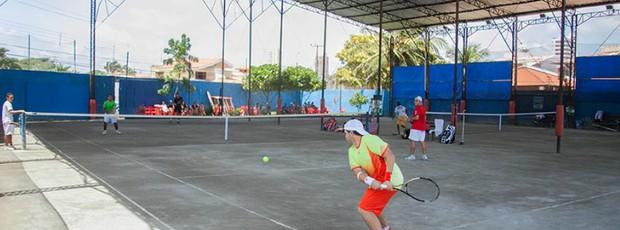 Quadra de tênis no Maranhão (Foto: Divulgação / ODTC)