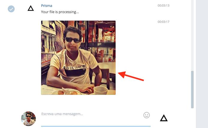 Imagem com filtro aplicado automaticamente pelo bot do Prisma do Telegram Web (Foto: Reprodução/Marvin Costa)