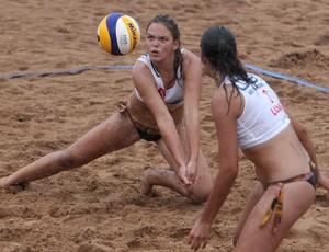 Luísa e Paula CEL vôlei de praia Olimpíadas Escolares (Foto: Andre Mourao/AGIF/COB)