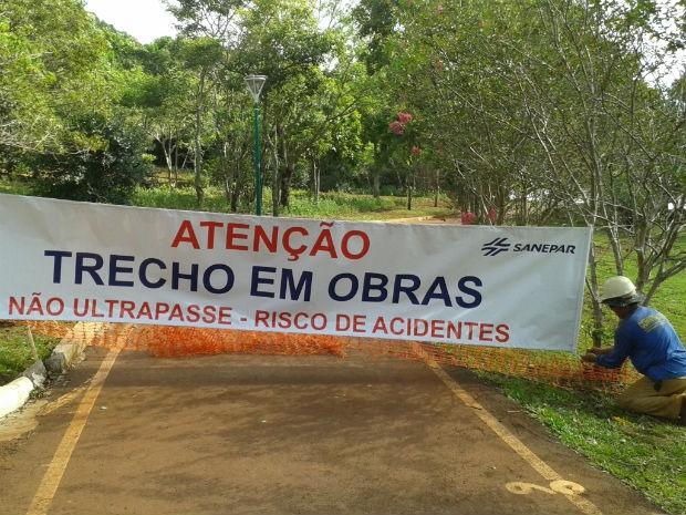 Previsão é que os trabalhos sejam concluídos em 180 dias (Foto: Sanepar/ Divulgação)