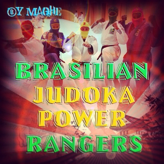 judo montagem power rangers japão brasil (Foto: Reprodução/Facebook)