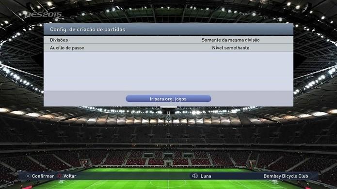 Usuário escolhe preferências do jogo (Foto: Reprodução/Thiago Barros)