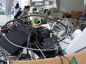 Entidades de Toledo fazem mutirão de coleta de lixo eletrônico no sábado (28) (Foto: Prefeitura de Toledo / Divulgação)