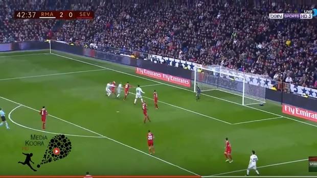 James empurra Modric pênalti Real Madrid x Sevilla