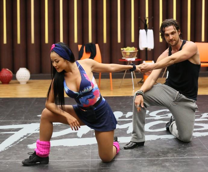 Igor Rickli durante ensaio do Dança (Foto: Isabella Pinheiro / Gshow)