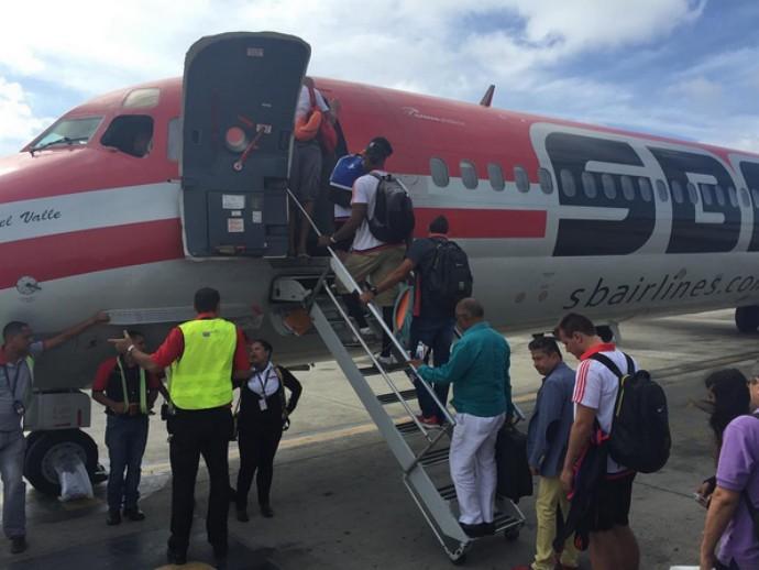 Embarque do Flamengo para Barquisimeto, na Venezuela (Foto: Reprodução/Instagram)