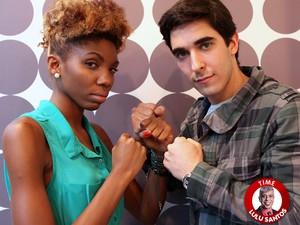 Késia Estácio e Gustavo Fagundes (Foto: The Voice Brasil/TV Globo)