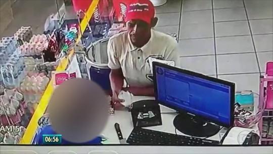 Câmeras de segurança filmam assalto a loja em posto de gasolina na Zona Sul do Recife