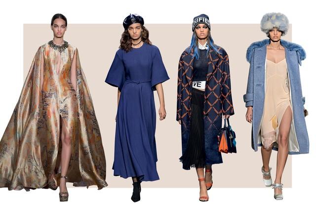Ellen Rosa nos desfiles de Ralph Lauren/verão 2017, Dior/inverno 2017/18 e Versace/inverno 2017/18 (Foto: Arquivo Vogue, Arquivo Pessoal, Tiago Petrik, Lorenzo Holder, Reprodução e Divulgação)