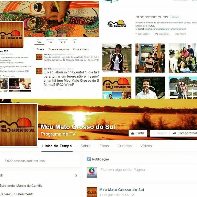 Redes Sociais do Meu Mato Grosso do Sul (Foto: TV Morena)