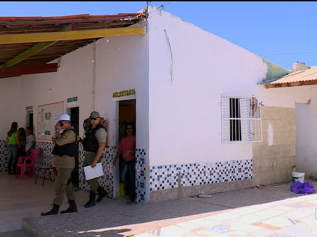 Creche é arrombada em Petrolina (Foto: Reprodução/ TV Grande Rio)