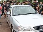 Soldado do Exército é detido após atropelar 3 foliões em Caiapônia (Reprodução/TV Anhanguera)