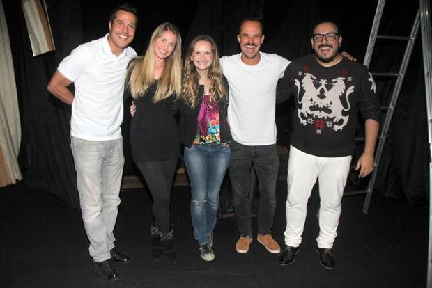 Júlio César, Susana Werner, Fernanda Rodrigues e Paulinho Vilhena (Foto: Daniel Delmiro/Agnews)