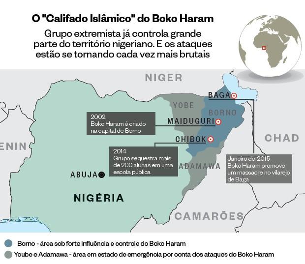 Área de influência do Boko Haram na Nigéria (Foto: Giovana Tarakdjian/ÉPOCA)