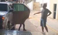 FOTOS: Huck pode  ter sofrido fratura (Reprodução/Rede Globo)
