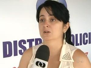 Ana Paula Rodrigues, irmã de de jovem filmada sendo agredida e encontrada morta em Anápolis (Foto: Reprodução/TV Anhanguera)