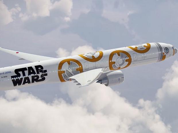 Aeronave incluirá os característicos desenhos circulares em tom alaranjado do robô na fuselagem (Foto: Divulgação/ANA)