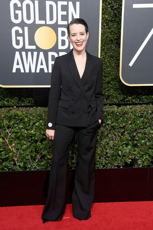 BEVERLY HILLS, CA - JANUARY 07:  Actor Claire Foy attends The 75th Annual Golden Globe Awards at The Beverly Hilton Hotel on January 7, 2018 in Beverly Hills, California.  (Photo by Frazer Harrison/Getty Images) (Foto: Getty Images)